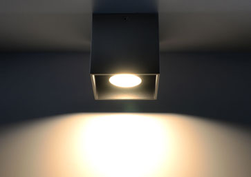 Lamp Modern LIGHT LED ready Gu10 Made In Eu HOME Ceiling GEO 1 BLACK NL.0022